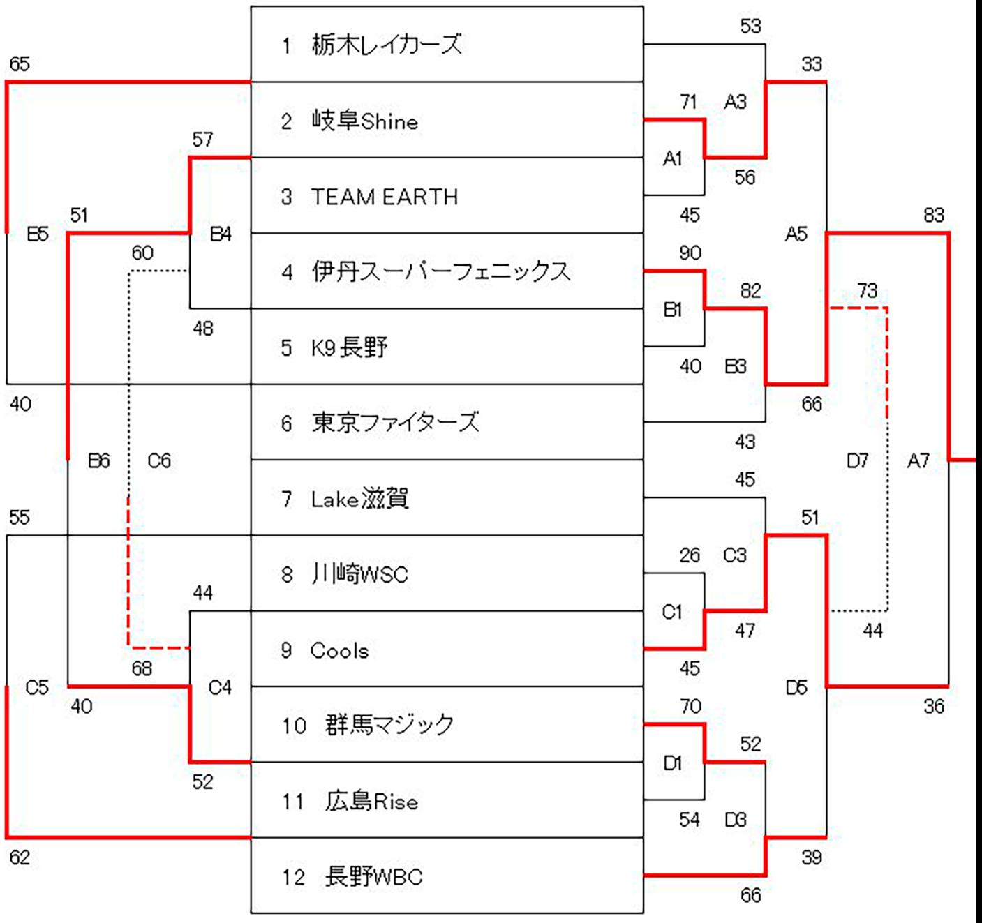 第29回 日本選抜車椅子バスケットボール選手権大会 - 大会結果 男子